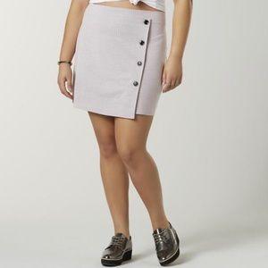 Dresses & Skirts - White Pink Mini Plus Size Wrap Skirt